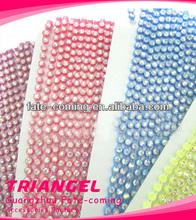 clear stones plastic rhinestone trimming