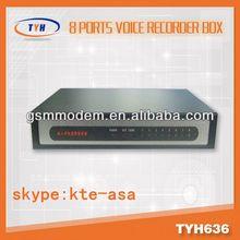 8 line voice recorder / wireless gsm server / voice recording