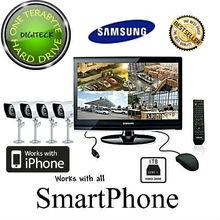 "Z3R - SAMSUNG SME-4220 22"" LCD MONITOR BUILT-IN 8 CHANNEL DVR 1TB HD + 4 CAMERAS"