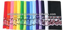 Edge pattern skarf / Skarf / Handker chief / Muffler / Climbing / Picnic / Cotton 100%