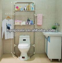 BONUNION plastic bathroom shelf decorative wall mounted shelves free standing shelves