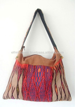 Unique Hmong Tribal Bag with Flat Strap