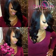 Bang wig u part wigs right parting fashion style wave human 100% Brazilian hair u part wigs for black women