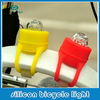 Front and back silicon LED light for bike silicon bicycle light