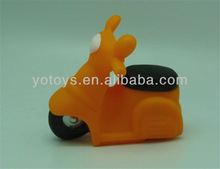 funny soft motorcycle squirting baby bath toy /soft PVC vinyl toy
