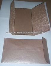 Pebble Embossed Wedding Cards with Custom Printing for Wedding Stationers, Wedding Invitation Designers,