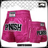 Women's boxing garment 100% polyester satin pink lady's boxing shorts