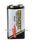 9V 6F22 carbon silver zinc industrial battery