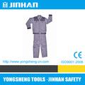 Jinhan algodão tingido sarja, manga comprida macacão de trabalho, uniforme de engenharia