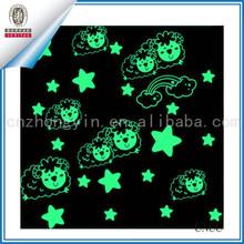 glow in the dark vinyl star sticker