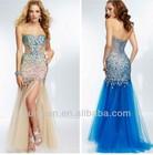 Mermaid Sweetheart Strapless Side Split Prom Dresses 2013