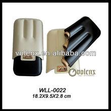 Custom Popular Leather Cigar Case 3 Fingers Wholesale (SGS&BV)