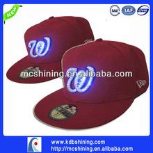 Alibaba Express Customer Design LED Man Sports Cap