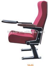 High quality aluminum cinema seats home cinema chairs with writing pad(YA-03)