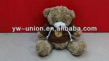 de felpa adorable y sruffed 15cm oso de peluche con abrigos de color marrón