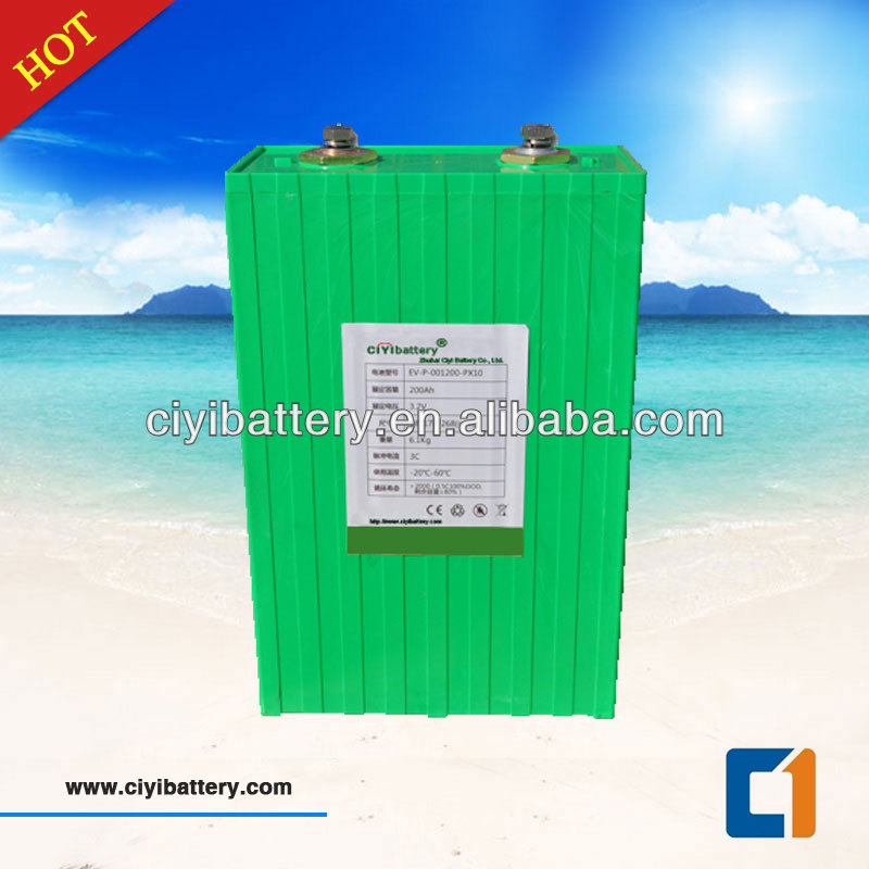New Solar and Electric Vehicle Battery LIFEPO4 3.2V 200Ah