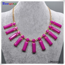 christmas gift swirl around fuchsia pandent statement party necklace jewelery