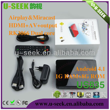 Wholesale factory Android 4.1 Dual Core 1GB/8GB android tv box keyboard