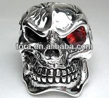 best seller puzzle rings for men metal diamond skull wedding ring