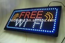 Australia LED free wifi indoor sign