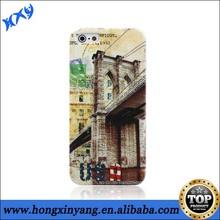 HXY Unique Color printing case for iphone 5 plastic case