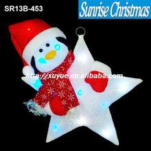 [2013 NEW] Christmas lighting/ christmas LED cotton Star / led Xmas star lighting (MOQ:200)