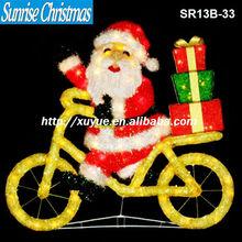 [2013 NEW] Christmas garden decorations/ Christmas led Santa lights/ Christmas snowman riding bike (MOQ:200PC)