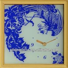 Fashional designed decoration clock cartoon wall clock pictures wooden pendulum wall clocks