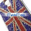 Wholesale Factory Price UK Flag Pattern Crystal Diamante PC Cover for Samsung i9500 Galaxy S4 Case