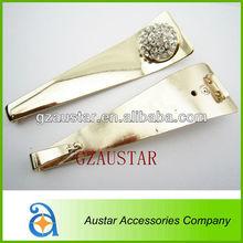 Stylish flip flop clips rhinestone crystal metal accessor for ladies