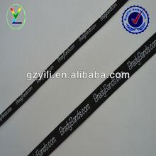 10mm white printed knit black elastic