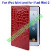 Crocodile Texture Leather Cover for iPad Mini 2 Retina Case