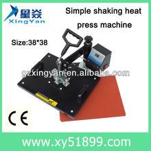 t-shirt printing manual shaking head press machine/shaking press machine