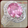 925 sterling silver antique ring natural pink topaz bridal custom jewelry