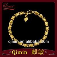 New arrival 24K gold plated babysbreath broadside bracelet women wedding bracelet hot sale