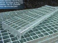 galvanized bridge decking grating, galvanized building steel material