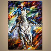Modern handmade newest figure painting designs supplier---Cowboy