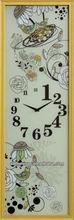 New product Promotion digital swing clock clear glass wall clock large atomic digital wall clock