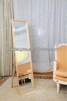 home decoration stylish window antique wooden frame mirror