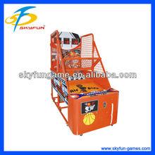 children playing street basketball arcade basketball