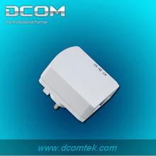 one port wallmount homeplug mini oem 500M adapter ethernet bridge plc