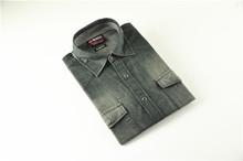 2015 combed cotton official check famous brand denim shirt men