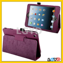 Fast delivery Litchi Texture Flip Leather Case with Holder Sleep / Wake-up Function for iPad mini / mini 2 Retina (Purple)