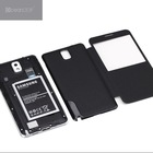 Luxury Flip Smart View Battery Case Cover for Samsung Galaxy Note 3