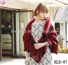 2013 fashion fur shawl