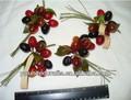 cosecha vieja duro de plástico frutas aceitunas de sombreros sombrero de chef de cocina decoración