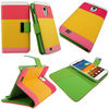 Color Wallet Pocket PU Leather Case Cover Protector Flip For samsung galaxy s4 i9500,hot selling wallet case for iphone 5
