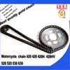 Chinese manufacturer spare parts chain sprocket set for racing parts motorcycle