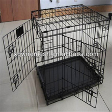 high quality two doors metal wire dog cage / carrier