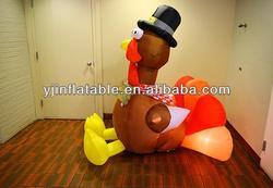 Inflatable lighting Thanksgiving Turkey for resterant